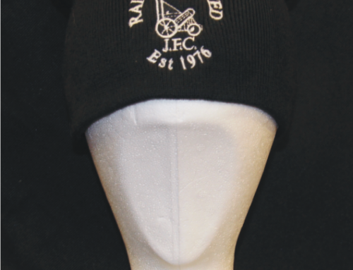 Beanie hat embroidered with logo