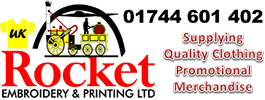 Rocket Embroidery Ltd Logo