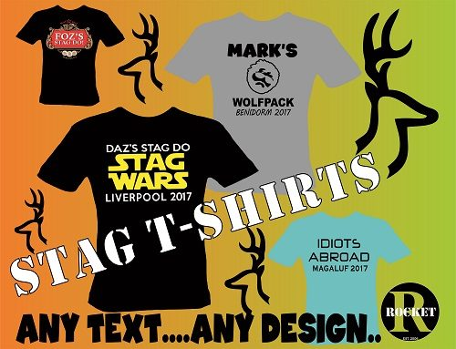 Stag and Hen Party T-Shirts in Merseyside
